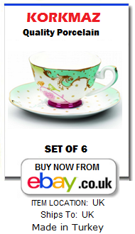 Contemporary Turkish coffee cup set for 6