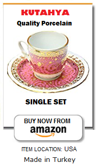 Turkish coffee cup-saucer set of 1